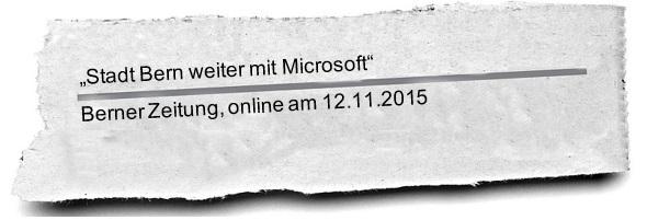 Zeitung Bern dabei