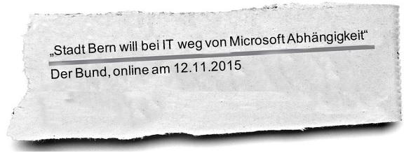 Zeitung Bern weg