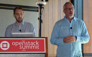 Eine Neuaufstellung von OpenStack angekündigt: Jonathan Bryce und Mark Collier, Director beziehungsweise COO der OpenStack Foundation. Foto: Ludger Schmitz, CC-BY 3.0