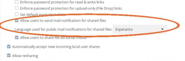 """Auf Wunsch können Administratoren statt eines Passworts künftig auch eine E-Mail-Adresse hinterlegen, über die anschließend ein Aktivierungslink an einen neuen User gesendet wird. """"""""Send an account activation link to your new user"""""""" Bildquelle: ownCloud GmbH"""