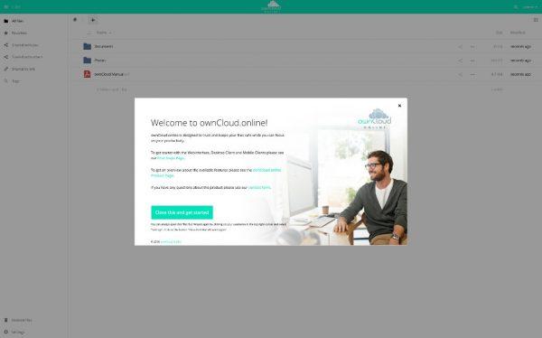 Die SaaS-Lösung erinnert an die Community-Version von ownCloud, wurde aber mit einigen Zusatzfunktionen für Unternehmen ergänzt. Bildquelle: ownCloud GmbH